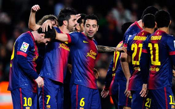 FC Barcelona celebrating