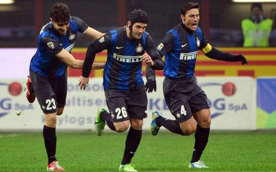 Inter players celebrating - Inter-Torino