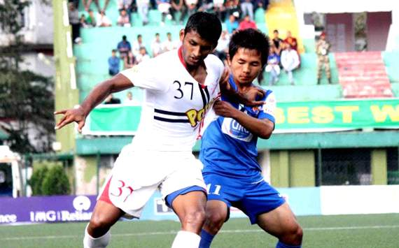 Pronay Halder, Nima Tamang, Pailan Arrows vs United Sikkim, I-League