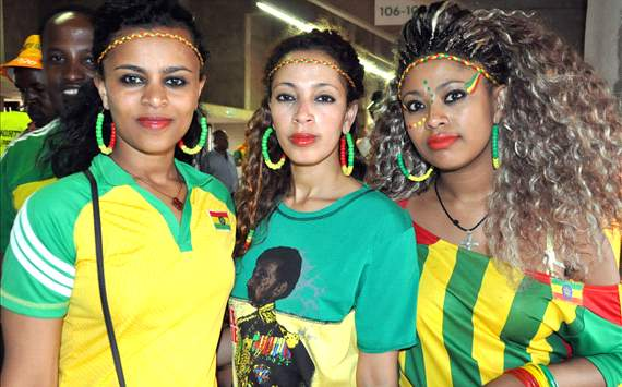 Goodbye to the vibrant Ethiopian fans  and their beautiful women