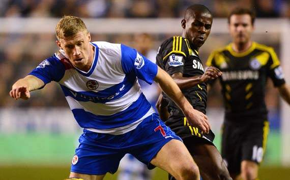 EPL, Reading v Chelsea, Pavel Pogrebnyak, Ramires 