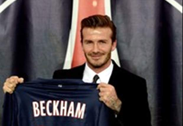 Beckham meets up with new PSG team-mates