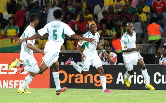 Eagles celebrate versus Ethiopia