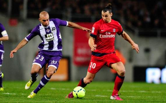 Ligue 1 : Zlatan Ibrahimovic vs Aymen Abdennour (Toulouse vs Paris SG)