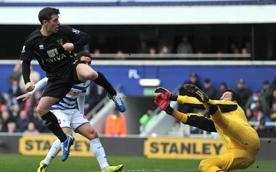 EPL: Wesley Hoolahan, QPR vs Norwich City