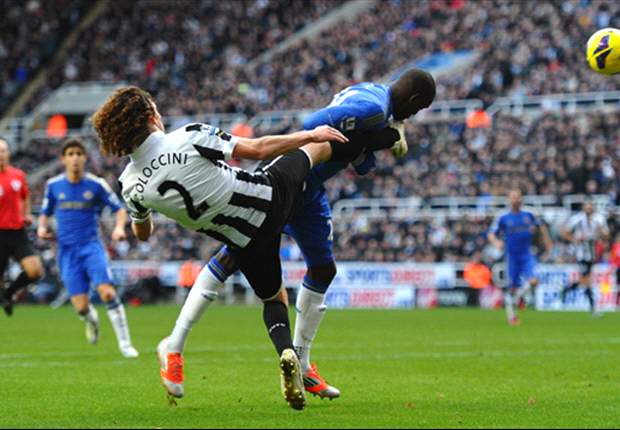 Demba Ba forced off on Newcastle return