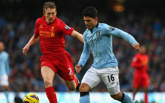 EPL - Manchester City v Liverpool, Sergio Aguero and Lucas