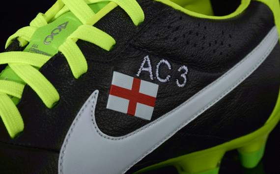 Ashley Cole celebrates England century with new boots
