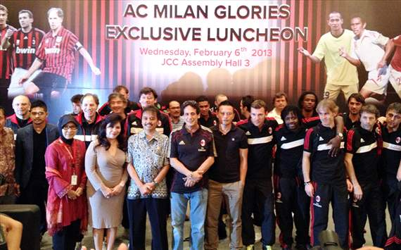 AC Milan Glorie telah hadir di Jakarta