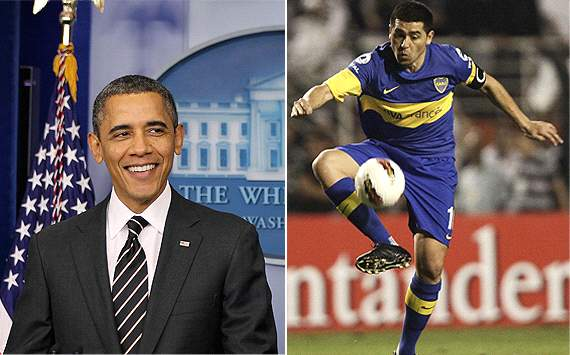Le piden a Barack Obama ayudar a Boca Juniors fichar a Juan Romn Riquelme
