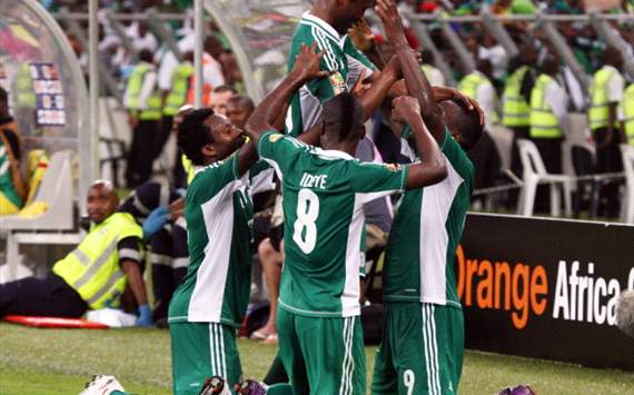 Nigeria players rejoice against Mali