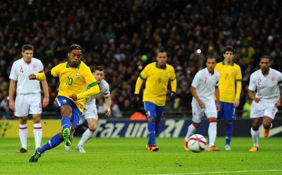 Ronaldinho, England v Brazil - International Friendly