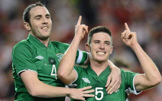 International Friendly, Republic of Ireland v Poland, Ciaran Clark & John O'Shea