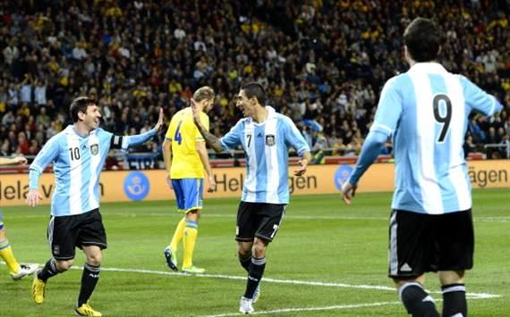 festejo Argentina vs Suecia