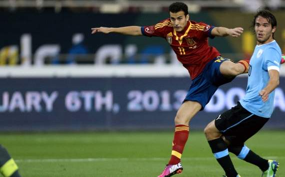 Pedro shines for Spain in Doha