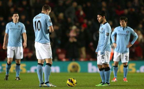 EPL, Southampton v Manchester City, Edin Dzeko, Sergio Aguero