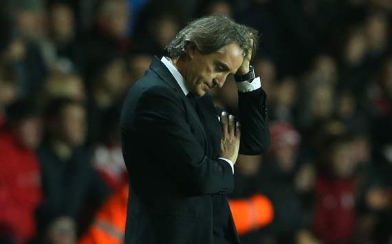 Mancini: Players responsible for Manchester City's faltering title challenge