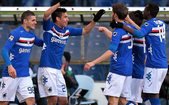 Sampdoria celebrating