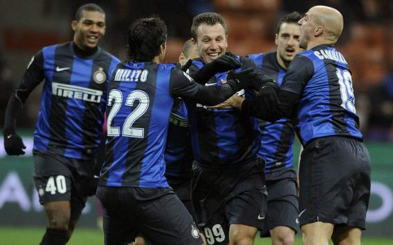 Inter players celebrating - Inter-Chievo