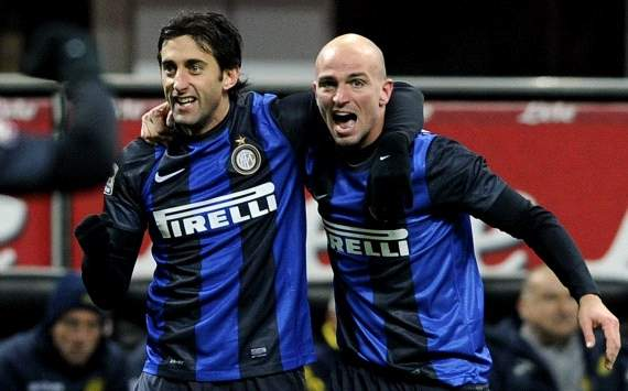 Diego Milito, Esteban Cambiasso - Inter-Chievo