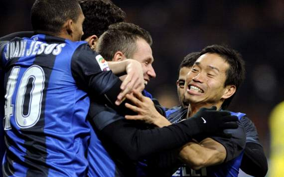 Inter celebrate vs Chievo