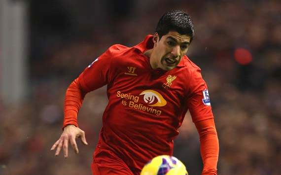 EPL, Liverpool v West Bromwich Albion, Luis Suarez