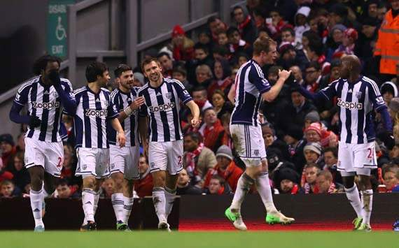 EPL, Liverpool v West Bromwich Albion, Gareth McAuley