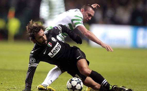 UEFA Champions League, Celtic v Juventus, Scott Brown, Andrea Pirlo