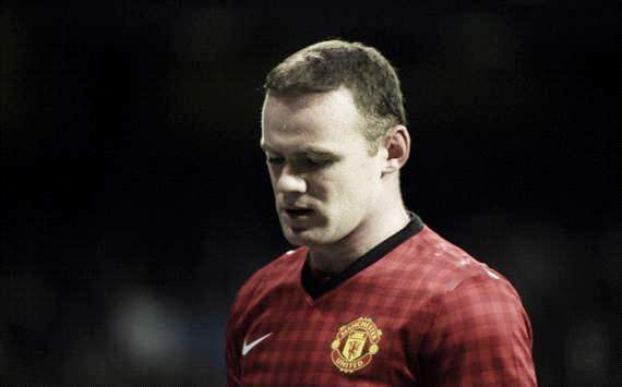 Wayne Rooney durante el Real Madrid - Manchester United