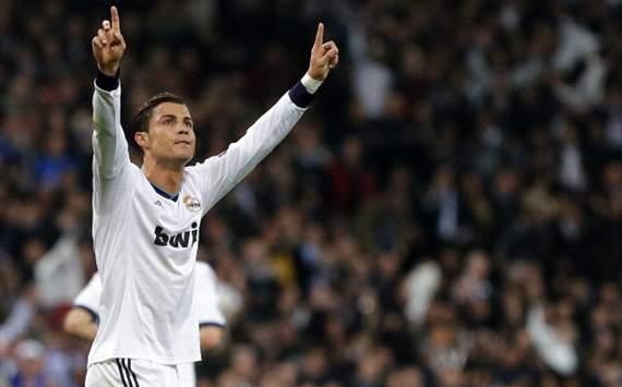 Cristiano Ronaldo durante el Real Madrid - Manchester United