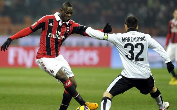 Balotelli-Marchionni - Milan-Parma - Serie A (Getty Images)