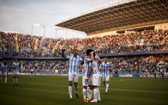 Malaga celebrates at La Rosaleda