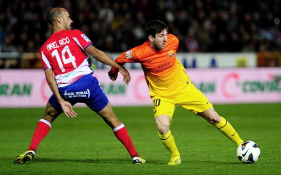 Mikel Rico y Lionel Messi, Granada-Barcelona