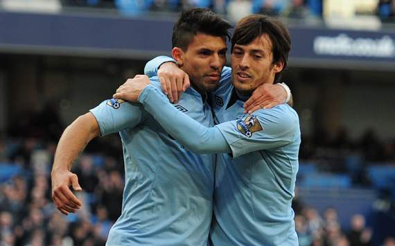 FA Cup - Manchester City vs Leeds, Sergio Aguero &amp; David Silva