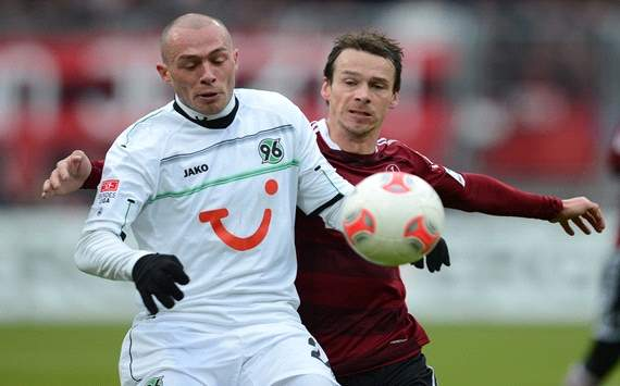 Nrnberg against Hannover 96