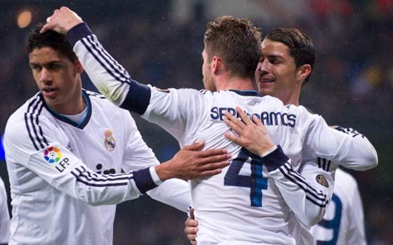Sergio Ramos, Raphael Varane, Cristiano Ronaldo - Real Madrid