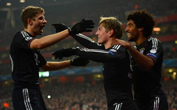 Toni Kroos; Dante; Thomas Mueller