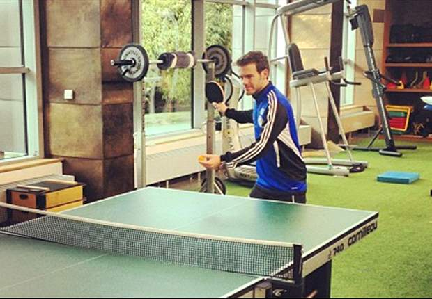 Word on the Tweet: Chelsea star Mata readies himself for Sparta Prague clash with game of ping-pong