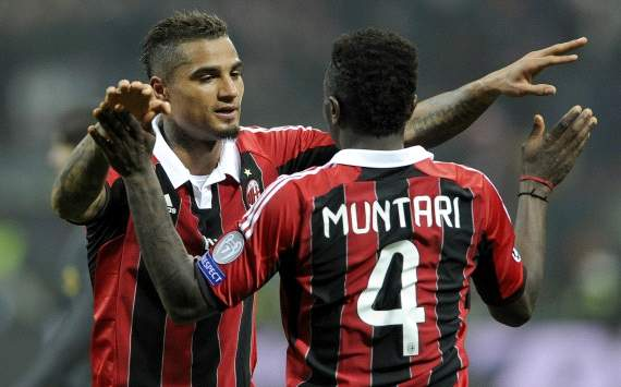 Kevin Prince Boateng and Sulley Muntari - Milan-Barcelona