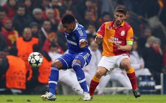 Uefa Champions League: Michel Bastos and Sabri Sarioglu (Galatasaray - Schalke)