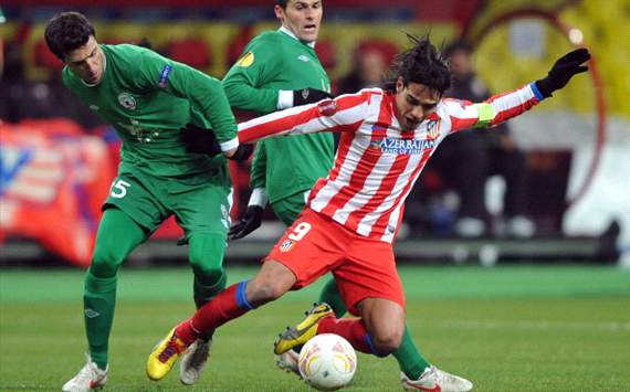 Falcao frustrated at Europa League exit