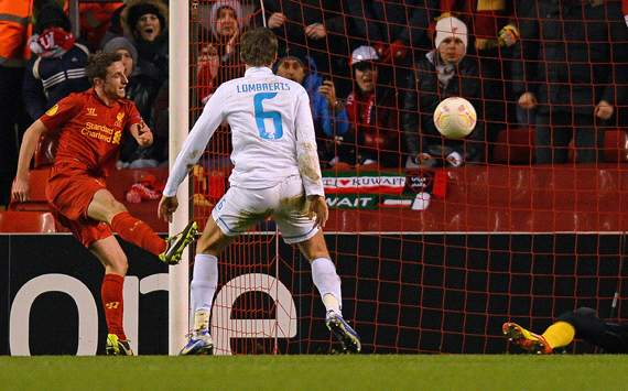 UEFA Europa League - Liverpool v Zenit St. Petersburg, Hulk, Joe Allen