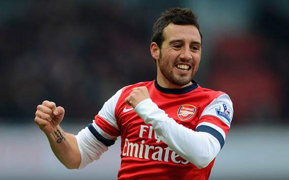 EPL - Arsenal v Aston Villa, Santi Cazorla