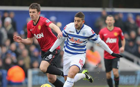 EPL - Queens Park Rangers v Manchester United,  Adel Taarabt and Michael Carrick