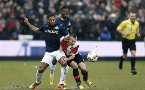 Jeremain Lens vs Jordy Clasie, Feyenoord - PSV