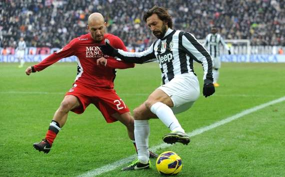 Andrea Pirlo and Alessandro Rosina - Juventus-Siena