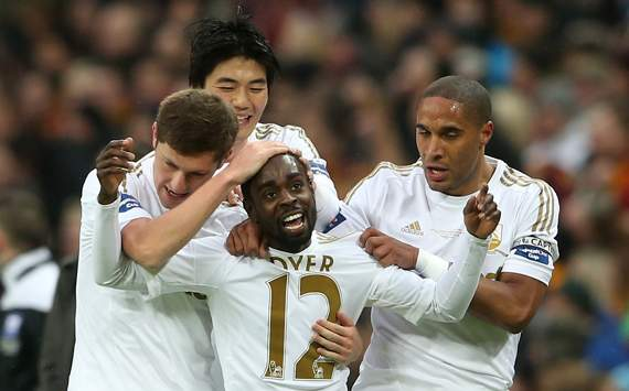 Capital One Cup Final - Bradford City v Swansea City, Nathan Dyer