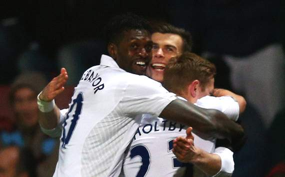 EPL, West Ham United v Tottenham Hotspur, Gareth Bale, Emmanuel Adebayor, Lewis Holtby