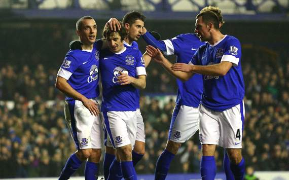 FA Cup, Everton v Oldham Athletic, Leighton Baines, Leon Osman