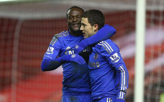 FA Cup, Middlesbrough v Chelsea, Victor Moses and eden Hazard